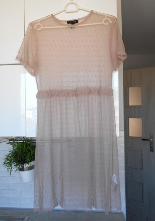 New Look nowa sukienka tiulowa przezroczysta mgiełka groszki...