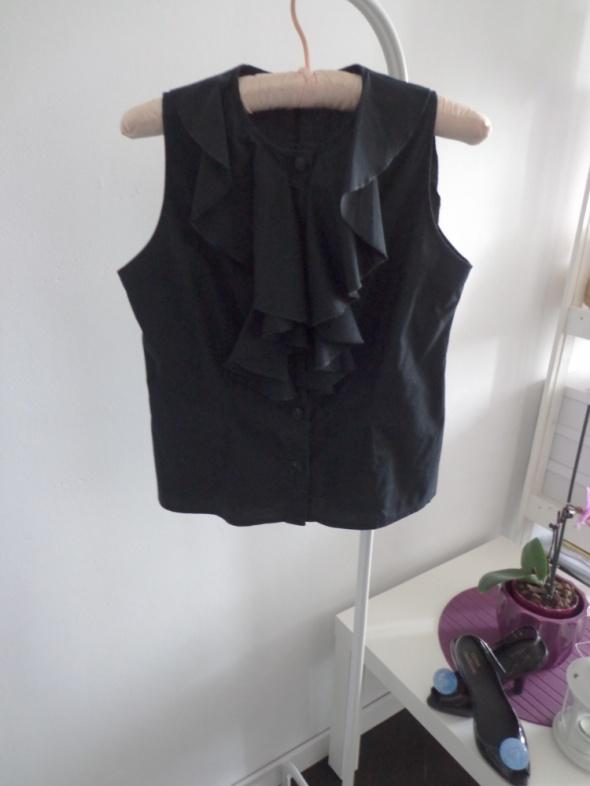 Koszula Czarna Echo żabot do pracy 36 S...