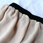 Szyfonowa spódnicza mini nude rozmiar uni S L
