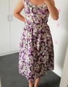 TU sukienka midi w kwiaty 42 44...