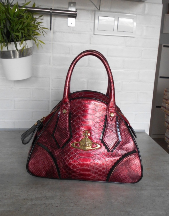 Vivienne Westwood Yasmin bag bordowa torebka kuferek oryginalna...