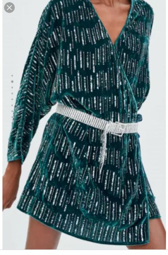Nowa sukienka Zara z cekinami...