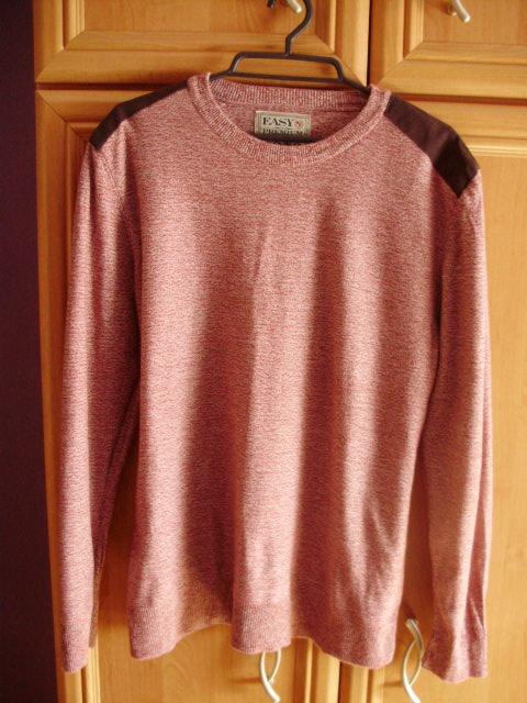 Sweterek bluza łaty bordowa męska 38 new