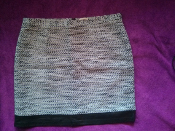 spódnica materiałowo skórzana...