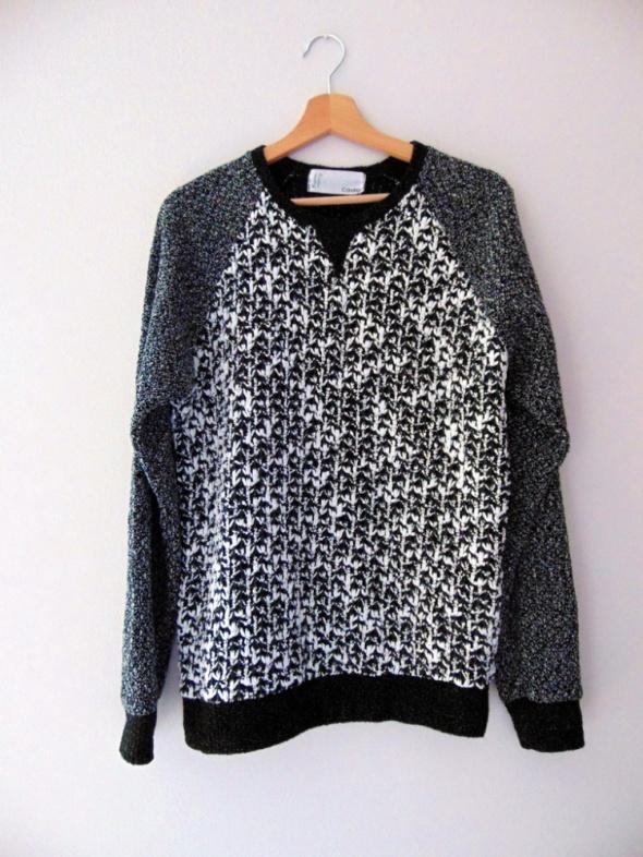 Czarno biały luźny sweter Cavinz 38 M