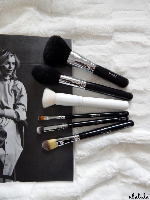 ECOntour Beauty Crew LancrOne zestaw 6 pędzli do makijażu pudru konturowania podkładu korektora