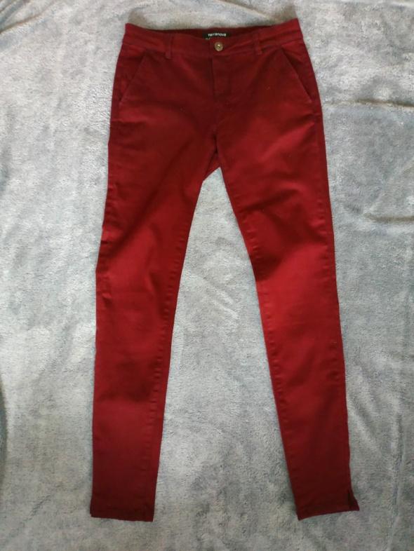Bordowe spodnie rurki Terranova rozmiar USA 27 EU 36 38...