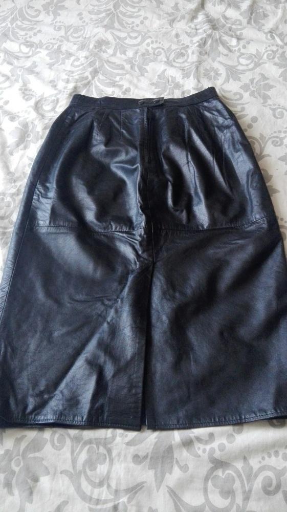 Spódnice skórzana czarna spódnica