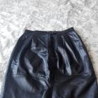 skórzana czarna spódnica
