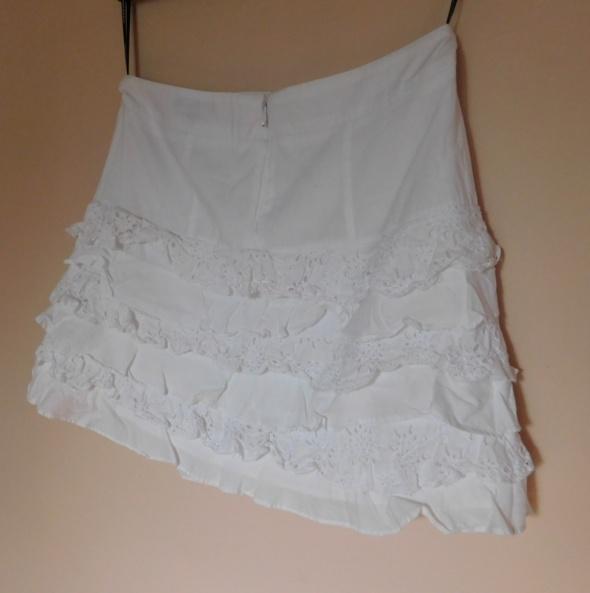 Warehouse biała mini spódnica haft 36...