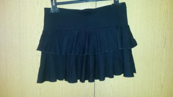 Czarna mini spódnica z falbanami XS S...