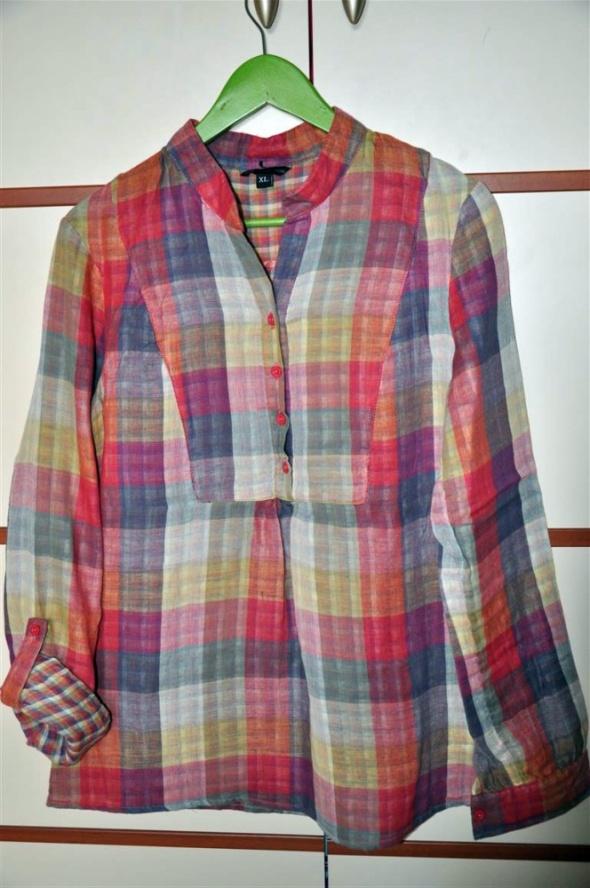 super koszula w kratę kolorową Troll XL...