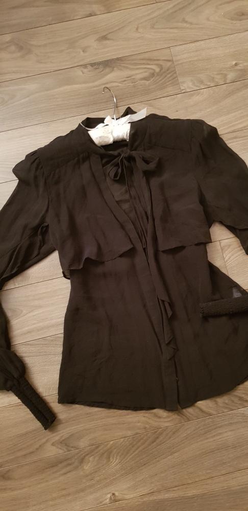 Jedwabna koszula Warehouse S M 100 silk minimalizm...