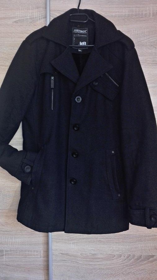 Klasyczny czarny płaszcz męski rozmiar L oraz XL