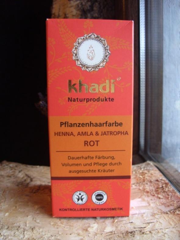 Henna Khadi Naturalna z Amlą i Jatrophą Czerwona ruda
