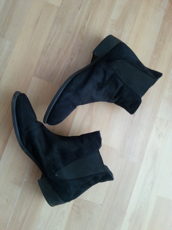 Czarne ankle boots botki...