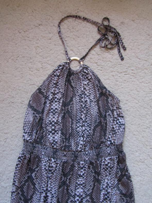 maxi dress boho skóra węża