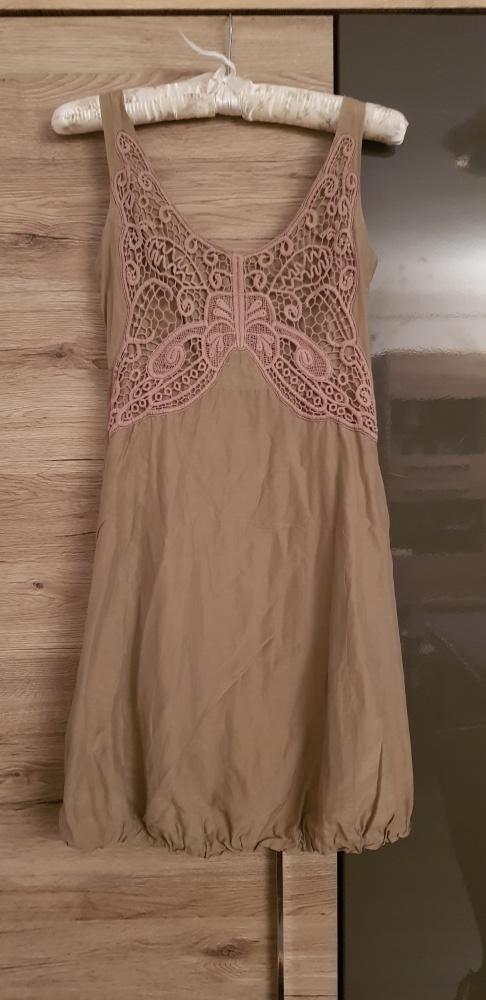Reserved r 36 sukienka koronka boho...