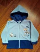 Niebieska polarowa bluza dla chłopca