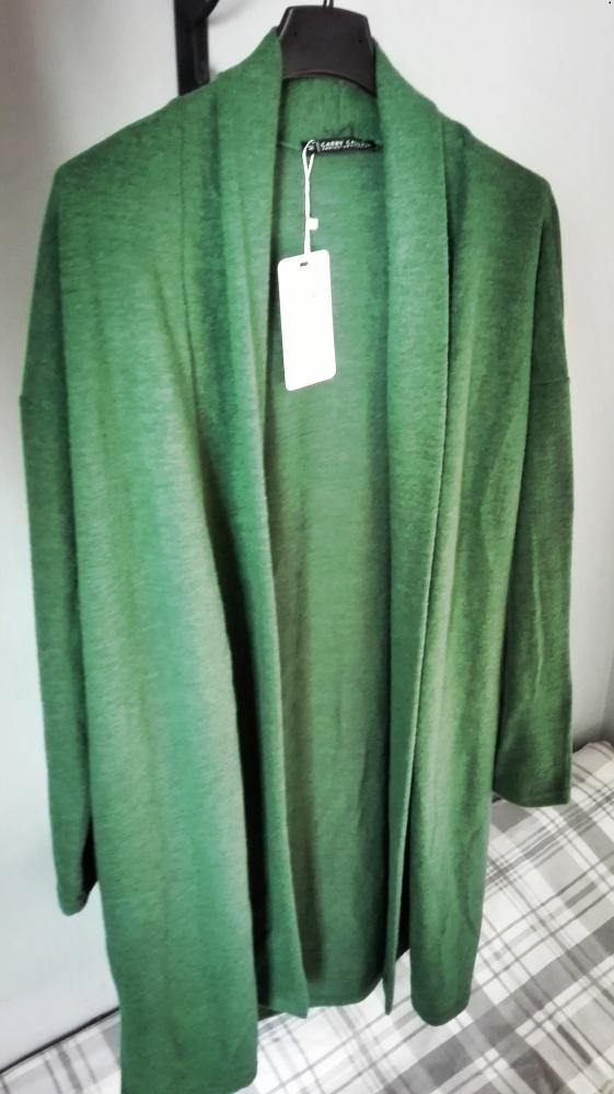 Zielony sweternarzutkaoversizeCarrynowy