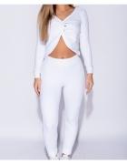Parisian Komplet Legginsy I Bluza Biały...
