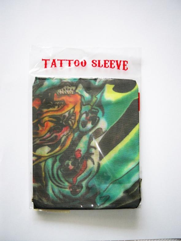 NOWY rękawek tatuaż tattoo sleeve rockowy zielony