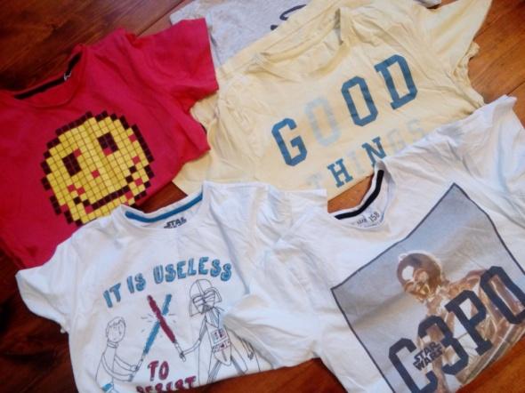 Koszulki, podkoszulki Cztery koszulki 158 cm