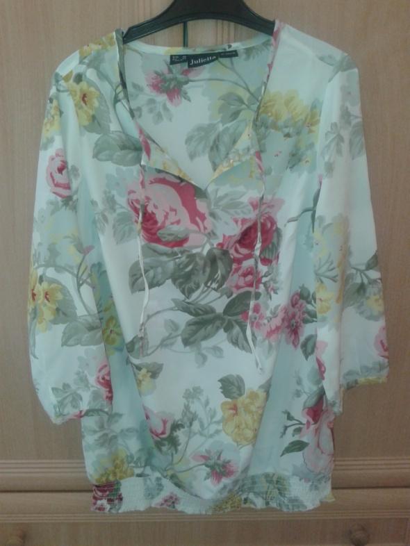 Bluzki bluzeczka kwiaty 42
