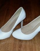 Białe ślubne buty 36