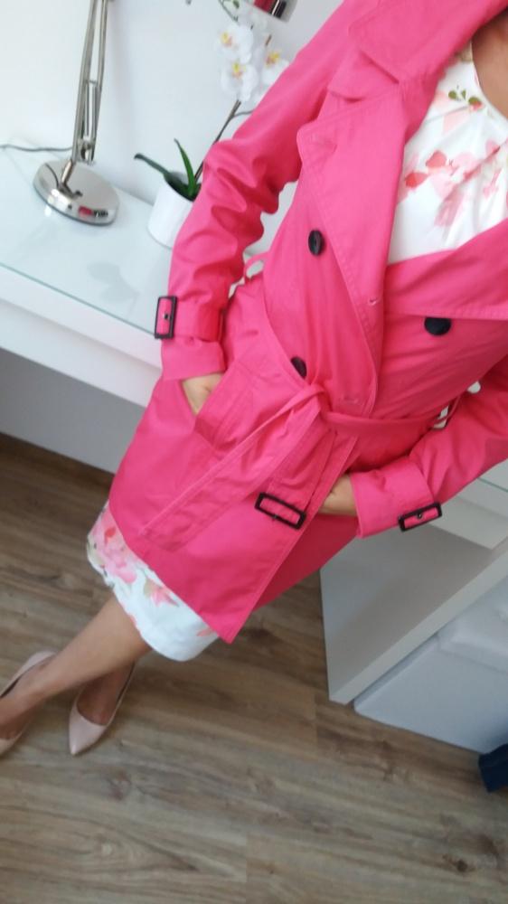 płaszcz casual różowa fuksja RESERVED