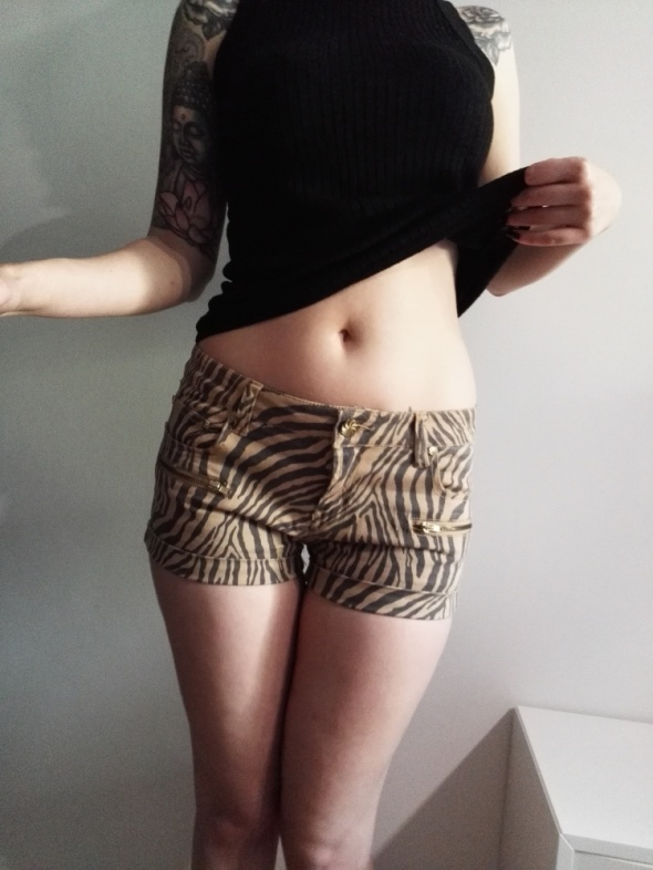 szorty spodenki primark 38 M print zebra zeberka