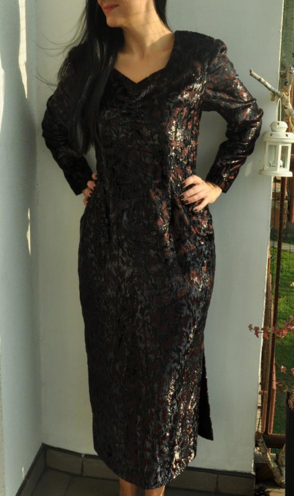 czarna sukienka retro...