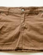 Karmelowa mini spodniczka...