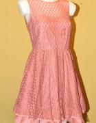 Sukienka pudrowy róż Boohoo Rose Pink Rozmiar S 36