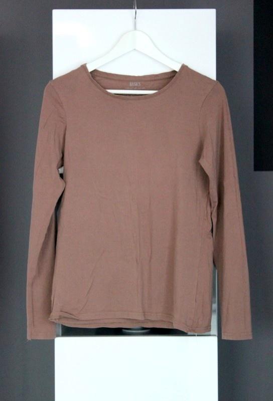brązowa basicowa koszulka bawełniana bawełna basic bluzka