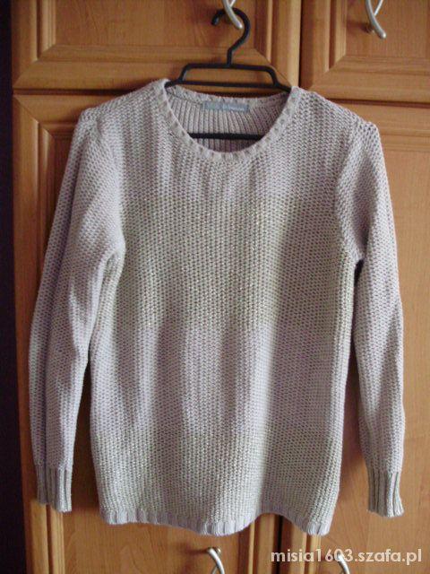 Sweter nude gold 38 nitka połyskujący beż