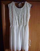 Sukienka koronka lace biała 40 gołe plecy white...