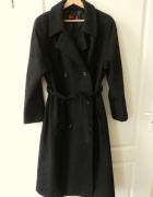 Granatowy wełniany płaszcz 80 procent...