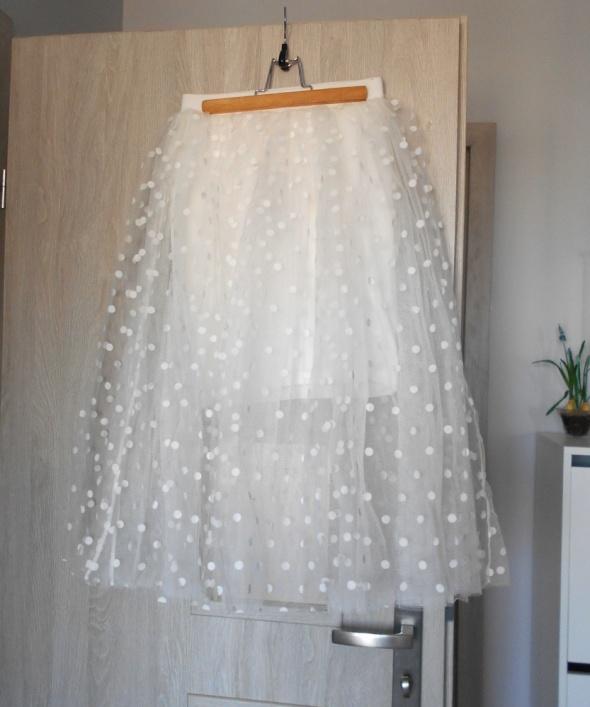Tally Weijl nowa tiulowa spódnica tiul groszki kropki rozkloszo...