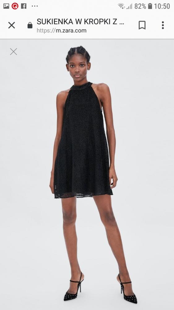 Sukienka Zara trapezowa roz S...