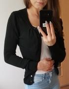 Czarny rozpinany sweter XS S...