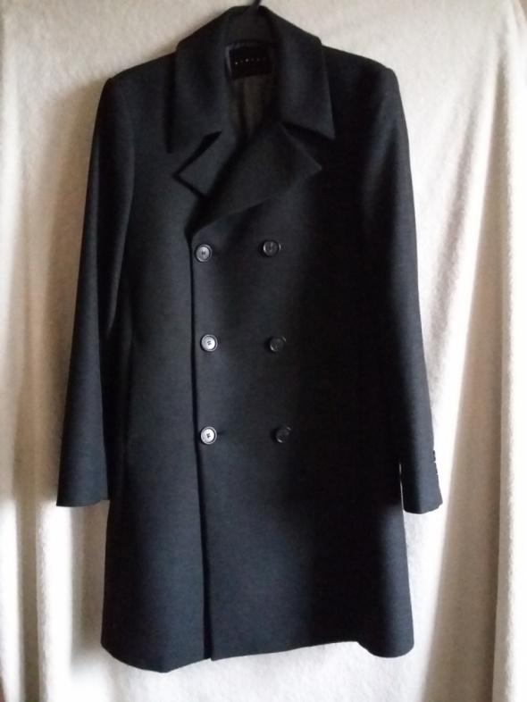 płaszcz męski slim fit na jesień zima SISLEY