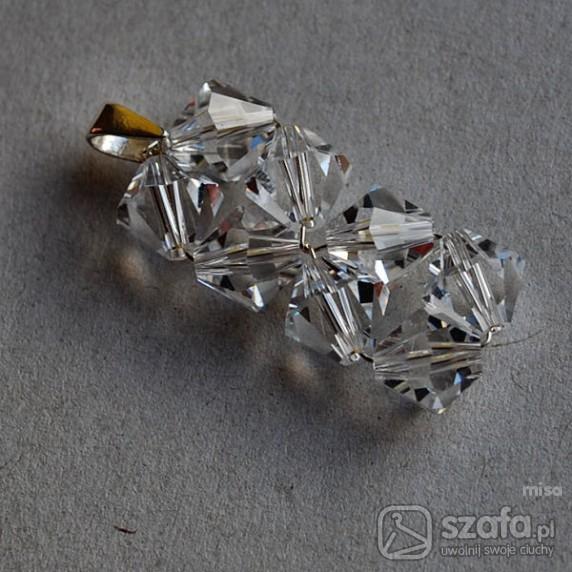 Kryształowy wisior ślubny ze Swarovskimi
