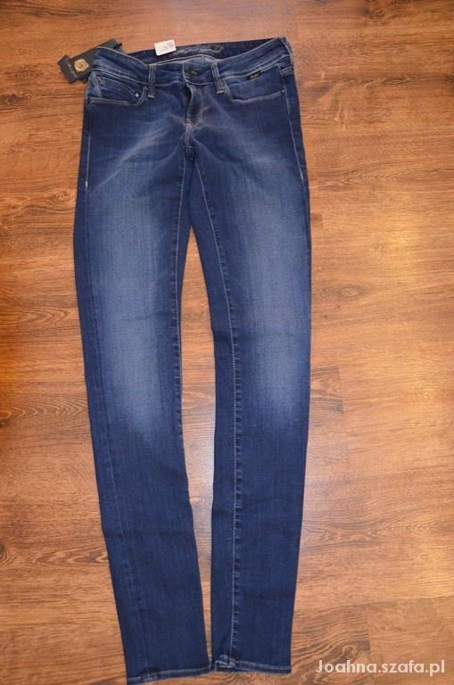 JEANSOWE SPODNIE jeansy RURKI 36