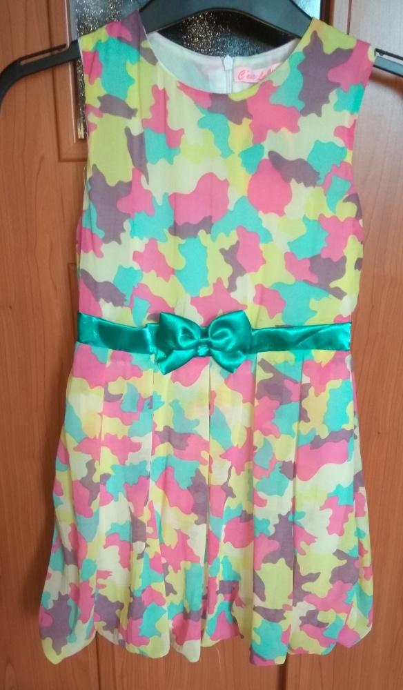 74c26e909d Sukienki i spódniczki Nowa sukienka wyjściowa szyfonowa kolorowa bombka 134
