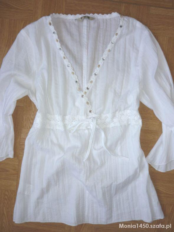 Biała koszula bluzeczka gnieciona 36 38