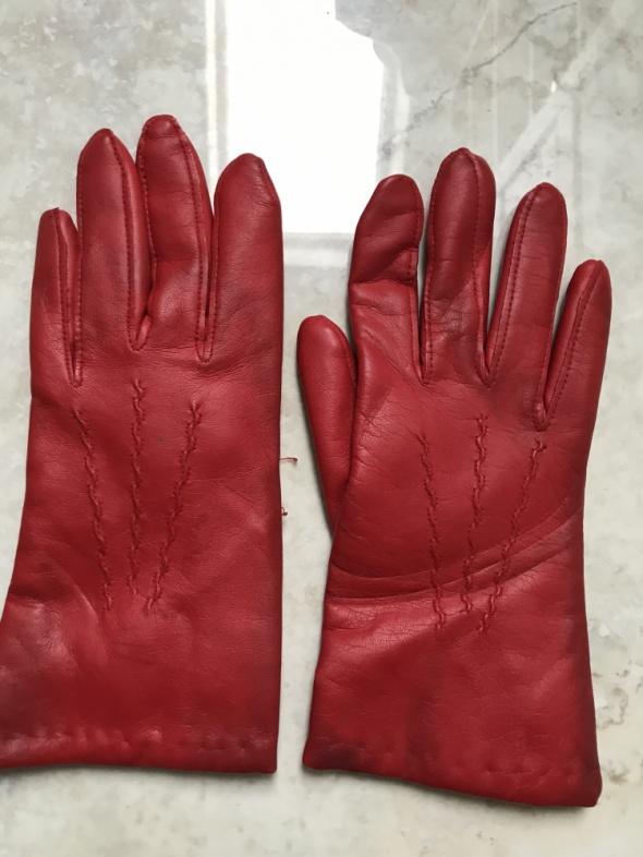 Rękawiczki Czerwone rękawiczki skórzane