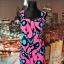 shabana london sukienka kwiaty neonowa nowa 38 40