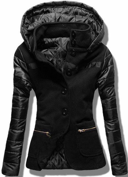 kurtka płaszcz czarny