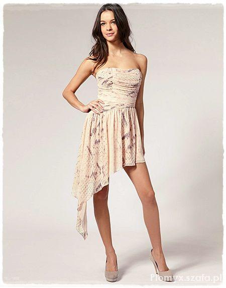 Suknie i sukienki Asymetryczna sukienka Lipsy London L